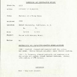 Image for K1533 - Condition and restoration record, circa 1950s-1960s