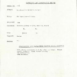 Image for K1538 - Condition and restoration record, circa 1950s-1960s