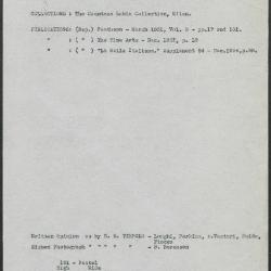 Image for K0151 - Art object record, circa 1930s-1950s