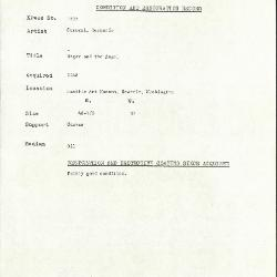 Image for K1532 - Condition and restoration record, circa 1950s-1960s