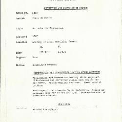 Image for K1433 - Condition and restoration record, circa 1950s-1960s