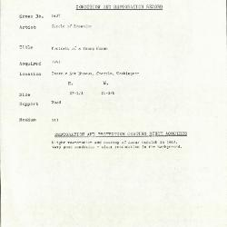 Image for K1437 - Condition and restoration record, circa 1950s-1960s