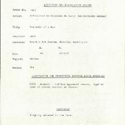 Image for K1436 - Condition and restoration record, circa 1950s-1960s
