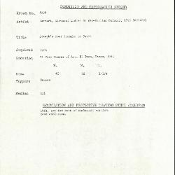 Image for K1530 - Condition and restoration record, circa 1950s-1960s