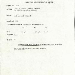 Image for K1536 - Condition and restoration record, circa 1950s-1960s