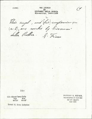 Image for K0154 - Expert opinion by Fiocco, circa 1930s-1940s