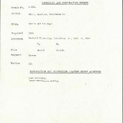 Image for K1541 - Condition and restoration record, circa 1950s-1960s