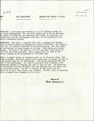 Image for K0148 - Alan Burroughs report, circa 1930s-1940s