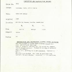 Image for K1552 - Condition and restoration record, circa 1950s-1960s