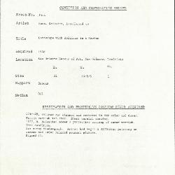 Image for K1544 - Condition and restoration record, circa 1950s-1960s