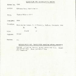 Image for K1545 - Condition and restoration record, circa 1950s-1960s