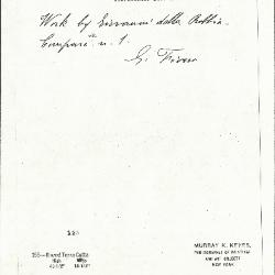 Image for K0155 - Expert opinion by Fiocco, circa 1930s-1940s