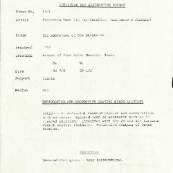 Image for K1571 - Condition and restoration record, circa 1950s-1960s