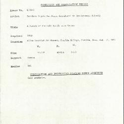 Image for K1543 - Condition and restoration record, circa 1950s-1960s