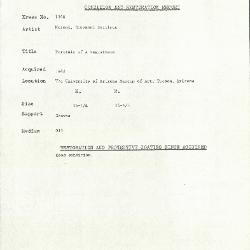 Image for K1548 - Condition and restoration record, circa 1950s-1960s