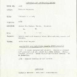 Image for K1585 - Condition and restoration record, circa 1950s-1960s