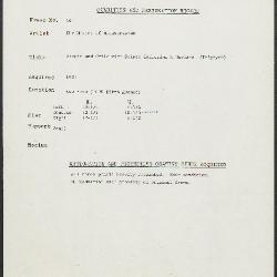 Image for K0016 - Condition and restoration record, circa 1950s-1960s