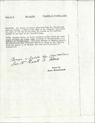 Image for K0158 - Alan Burroughs report, circa 1930s-1940s