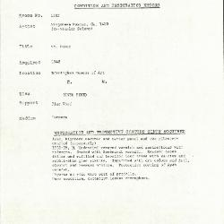 Image for K1582 - Condition and restoration record, circa 1950s-1960s