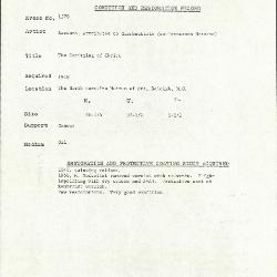 Image for K1579 - Condition and restoration record, circa 1950s-1960s