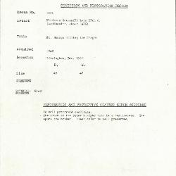 Image for K1601 - Condition and restoration record, circa 1950s-1960s