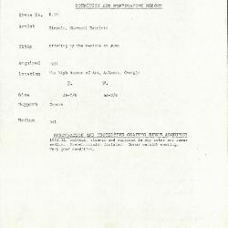 Image for K0161 - Condition and restoration record, circa 1950s-1960s