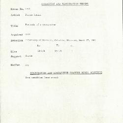 Image for K1590 - Condition and restoration record, circa 1950s-1960s