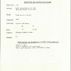 Image for K1593 - Condition and restoration record, circa 1950s-1960s