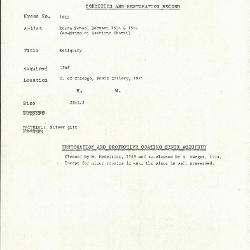 Image for K1613 - Condition and restoration record, circa 1950s-1960s