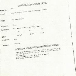 Image for K1592 - Condition and restoration record, circa 1950s-1960s