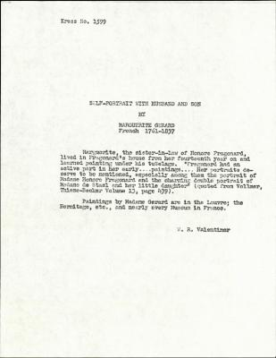 Image for K1599 - Expert opinion by Valentiner, circa 1930s-1950s