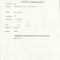 Image for K1596 - Condition and restoration record, circa 1950s-1960s