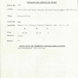 Image for K1586 - Condition and restoration record, circa 1950s-1960s