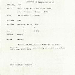 Image for K1617 - Condition and restoration record, circa 1950s-1960s