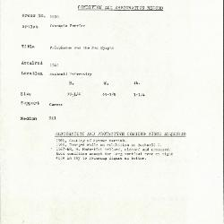Image for K1636 - Condition and restoration record, circa 1950s-1960s