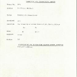 Image for K1641 - Condition and restoration record, circa 1950s-1960s