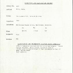 Image for K1637 - Condition and restoration record, circa 1950s-1960s