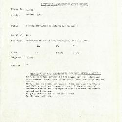Image for K1631 - Condition and restoration record, circa 1950s-1960s