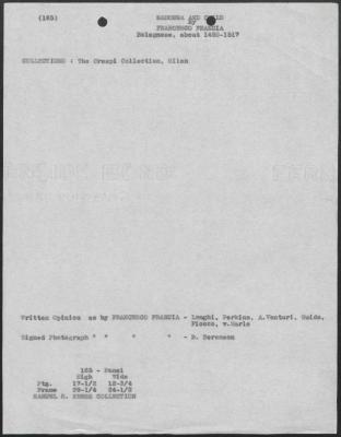 Image for K0165 - Art object record, circa 1930s-1950s