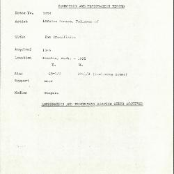 Image for K1654 - Condition and restoration record, circa 1950s-1960s