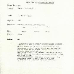 Image for K1634 - Condition and restoration record, circa 1950s-1960s