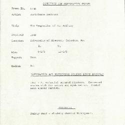 Image for K1638 - Condition and restoration record, circa 1950s-1960s