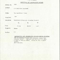 Image for K1633 - Condition and restoration record, circa 1950s-1960s