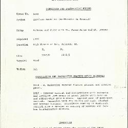 Image for K1630 - Condition and restoration record, circa 1950s-1960s