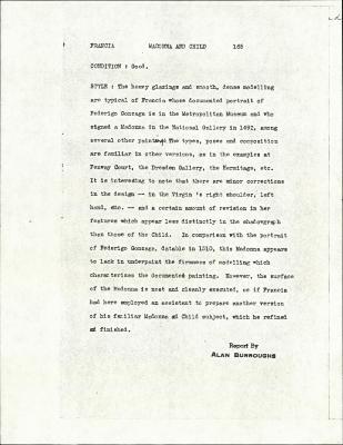 Image for K0165 - Alan Burroughs report, circa 1930s-1940s