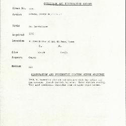 Image for K1698 - Condition and restoration record, circa 1950s-1960s