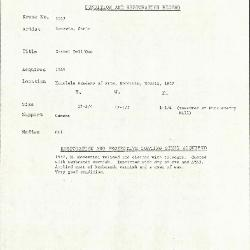Image for K1667 - Condition and restoration record, circa 1950s-1960s