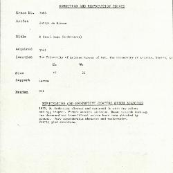 Image for K1683 - Condition and restoration record, circa 1950s-1960s