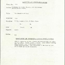 Image for K1694 - Condition and restoration record, circa 1950s-1960s