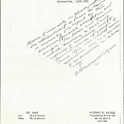 Image for K0169 - Expert opinion by Perkins, circa 1920s-1940s